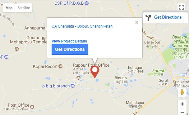 Charulata Santiniketan Location